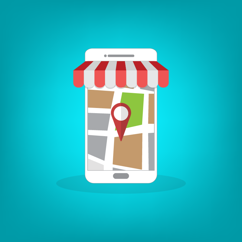Local SEO Art with Maps Pin